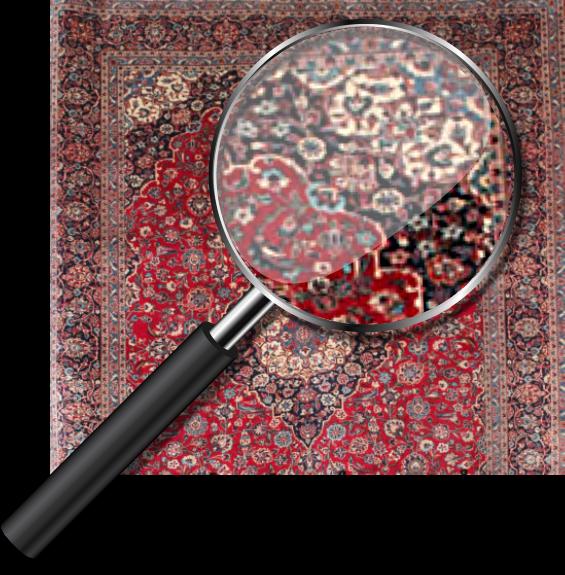 magnify-glass-antique-rug